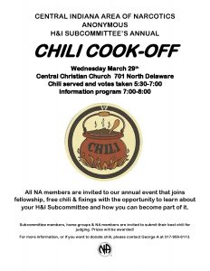 Annual Chili Cook-Off & Learning Event @ Central Christian Church | Indianapolis | Indiana | United States